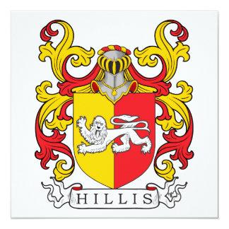 Escudo de la familia de Hillis Invitación Personalizada