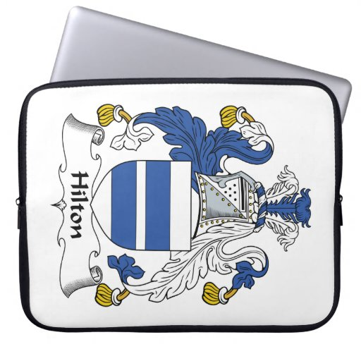 Escudo de la familia de Hilton Fundas Ordendadores