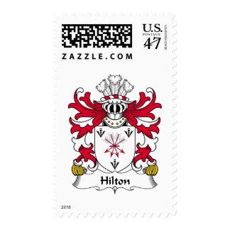 Escudo de la familia de Hilton Sellos Postales