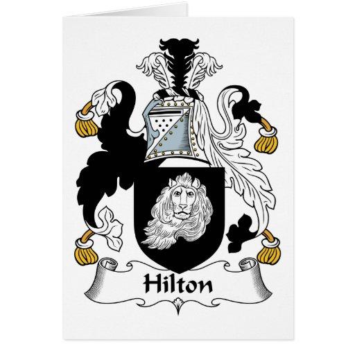 Escudo de la familia de Hilton Tarjeta De Felicitación