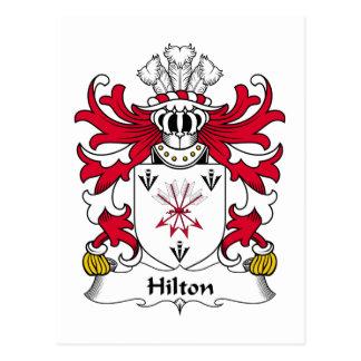Escudo de la familia de Hilton Tarjetas Postales