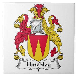Escudo de la familia de Hinchley Azulejo Cuadrado Grande