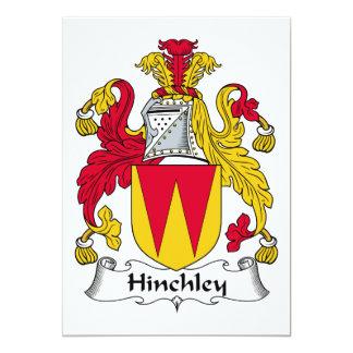 """Escudo de la familia de Hinchley Invitación 5"""" X 7"""""""