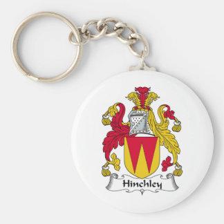 Escudo de la familia de Hinchley Llavero Redondo Tipo Pin