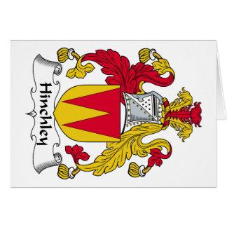 Escudo de la familia de Hinchley Tarjeta De Felicitación