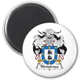 Escudo de la familia de Hinistrosa Imán Redondo 5 Cm