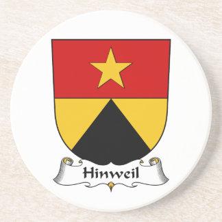 Escudo de la familia de Hinweil Posavasos Para Bebidas