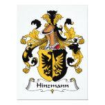 Escudo de la familia de Hinzmann Invitacion Personalizada