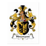 Escudo de la familia de Hinzmann Postales
