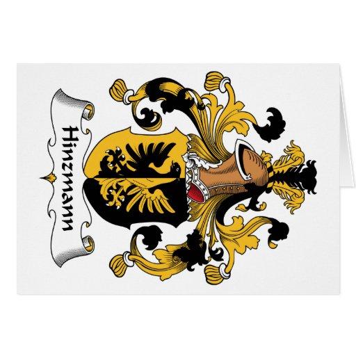 Escudo de la familia de Hinzmann Tarjetón