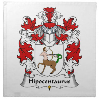 Escudo de la familia de Hipocentaurus Servilleta De Papel