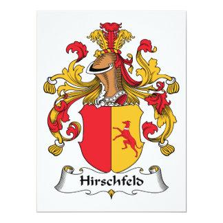 Escudo de la familia de Hirschfeld Invitaciones Personalizada
