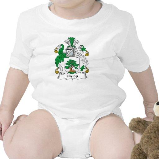 Escudo de la familia de Hislop Camisetas