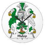 Escudo de la familia de Hislop Relojes De Pared