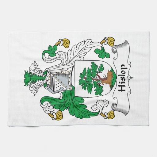 Escudo de la familia de Hislop Toallas