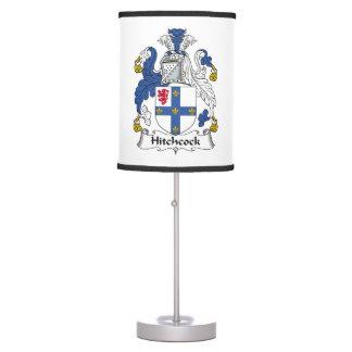 Escudo de la familia de Hitchcock Lámpara De Mesilla De Noche