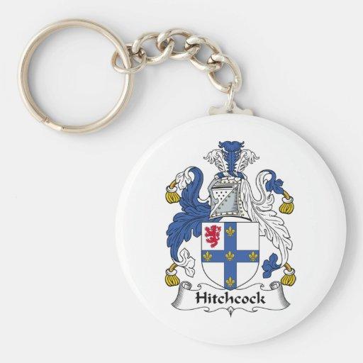 Escudo de la familia de Hitchcock Llaveros Personalizados