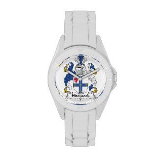 Escudo de la familia de Hitchcock Reloj De Mano