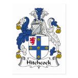 Escudo de la familia de Hitchcock Tarjeta Postal