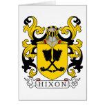 Escudo de la familia de Hixon Felicitación