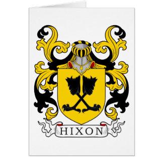 Escudo de la familia de Hixon Tarjeta De Felicitación