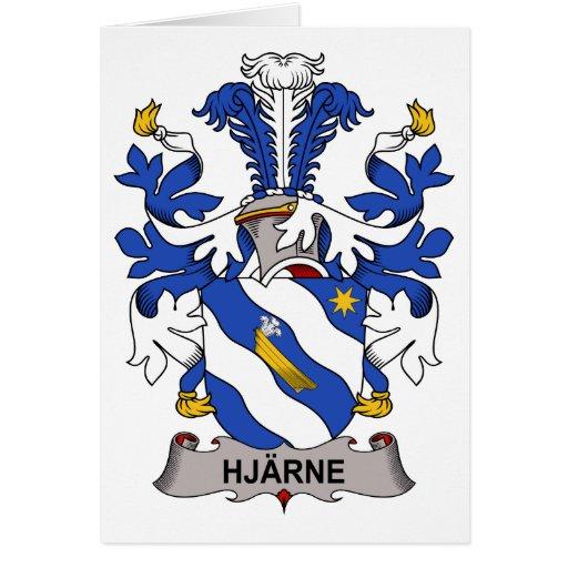 Escudo de la familia de Hjarne Felicitacion
