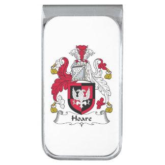 Escudo de la familia de Hoare Clip Para Billetes Plateado