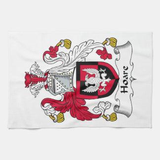 Escudo de la familia de Hoare Toallas