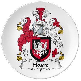 Escudo de la familia de Hoare Plato De Cerámica