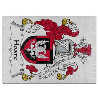 Escudo de la familia de Hoare Tablas Para Cortar