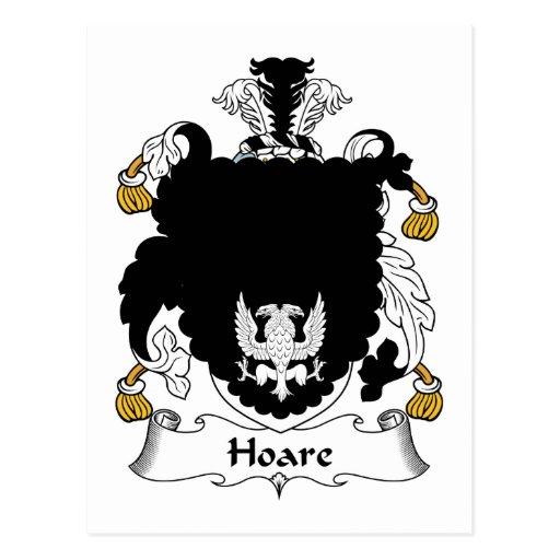 Escudo de la familia de Hoare Tarjetas Postales