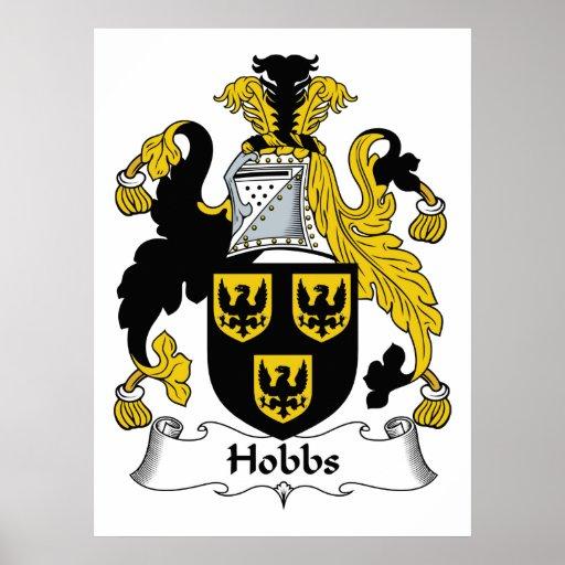 Escudo de la familia de Hobbs Póster