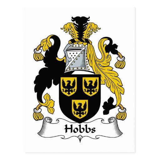 Escudo de la familia de Hobbs Tarjetas Postales