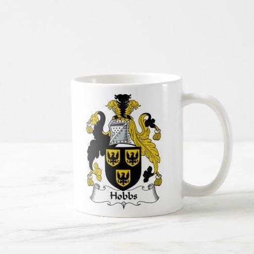 Escudo de la familia de Hobbs Taza Básica Blanca
