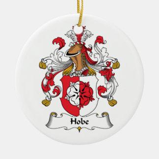 Escudo de la familia de Hobe Adorno Navideño Redondo De Cerámica