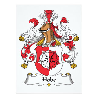 """Escudo de la familia de Hobe Invitación 6.5"""" X 8.75"""""""