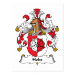 Escudo de la familia de Hobe Postales