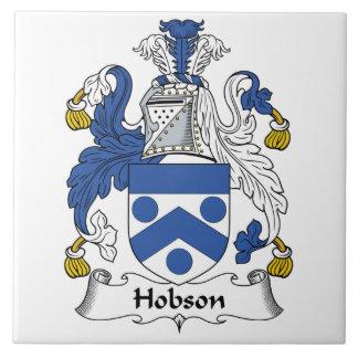 Escudo de la familia de Hobson Azulejo Cuadrado Grande