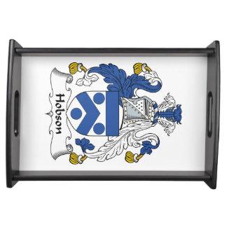 Escudo de la familia de Hobson Bandejas