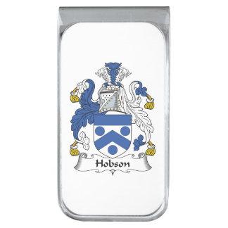 Escudo de la familia de Hobson Clip Para Billetes Plateado