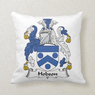 Escudo de la familia de Hobson Cojín