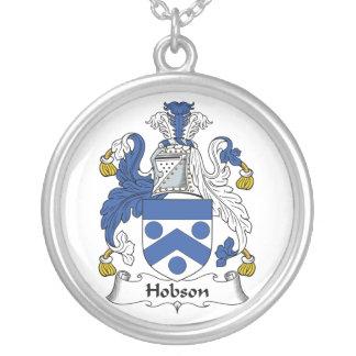 Escudo de la familia de Hobson Colgante Redondo