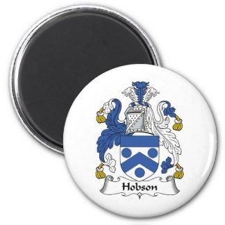 Escudo de la familia de Hobson Imán Redondo 5 Cm
