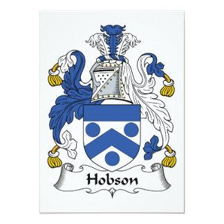 """Escudo de la familia de Hobson Invitación 5"""" X 7"""""""