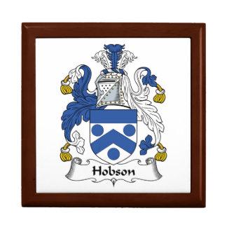 Escudo de la familia de Hobson Joyero Cuadrado Grande