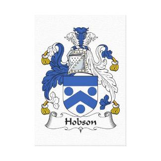 Escudo de la familia de Hobson Impresiones De Lienzo