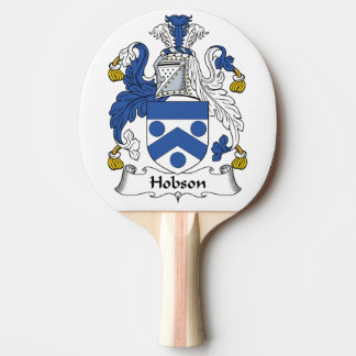 Escudo de la familia de Hobson Pala De Tenis De Mesa