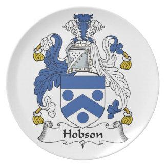 Escudo de la familia de Hobson Plato De Cena