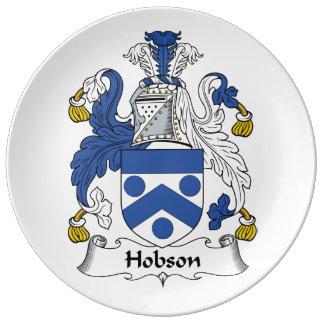 Escudo de la familia de Hobson Platos De Cerámica