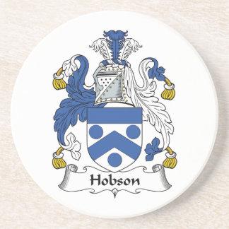 Escudo de la familia de Hobson Posavasos Para Bebidas
